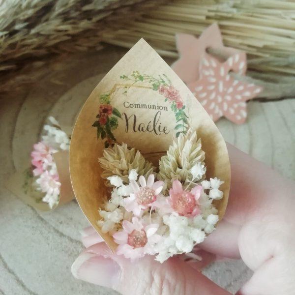 Mini bouquet de fleurs séchées bohème
