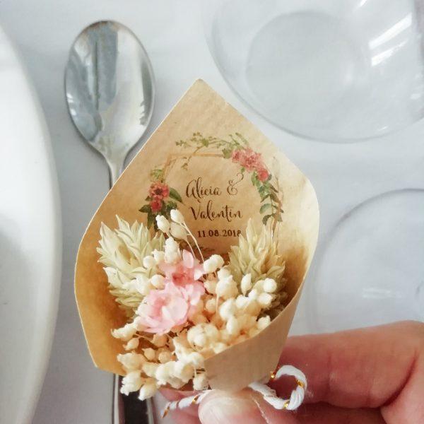 Mini-bouquet Bohême cadeau invité