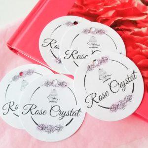 étiquettes logo Rose Crystal