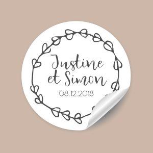 Stickers mariage Rustique