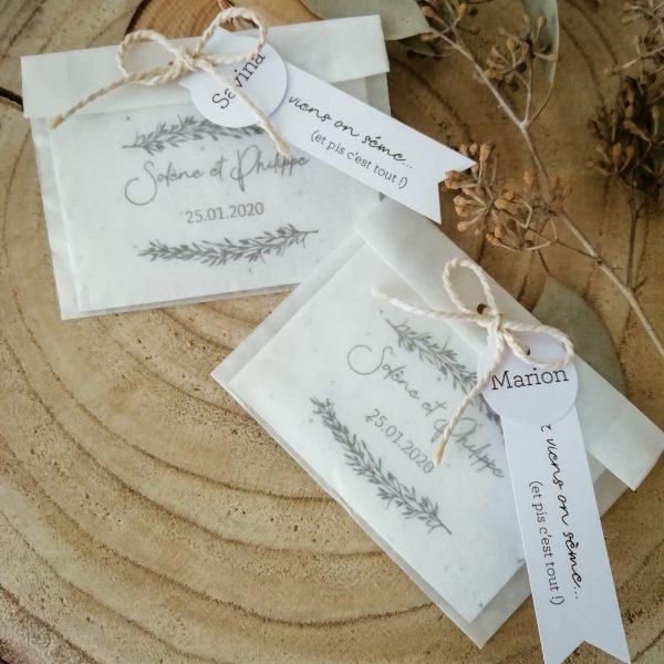 carte à planter mariage collection Brindille