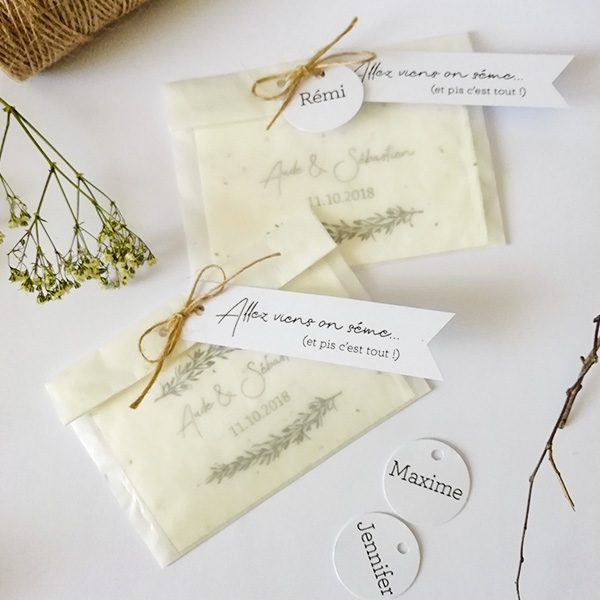 carte à planter Mariage