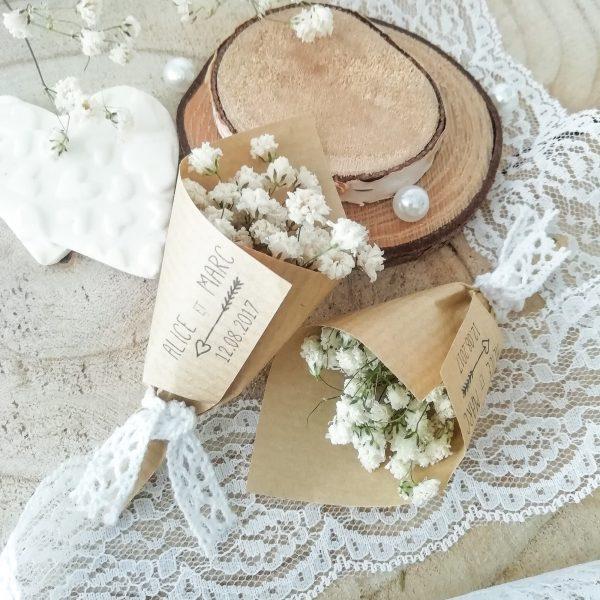 Bouquet de gypsophile mariage champêtre chic