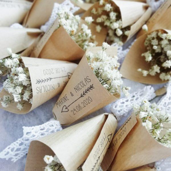 Bouquets de gypsophile cadeau mariage