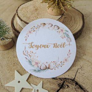 étiquette berlingot Noël