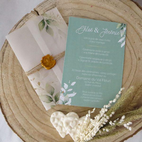 Faire-part mariage Bouton d'Or