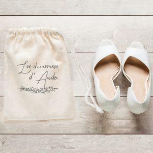Sac à chaussures de mariage collection Brindille
