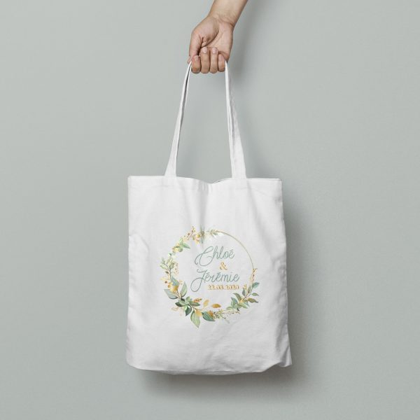 Tote bag mariage collection Bouton d'or
