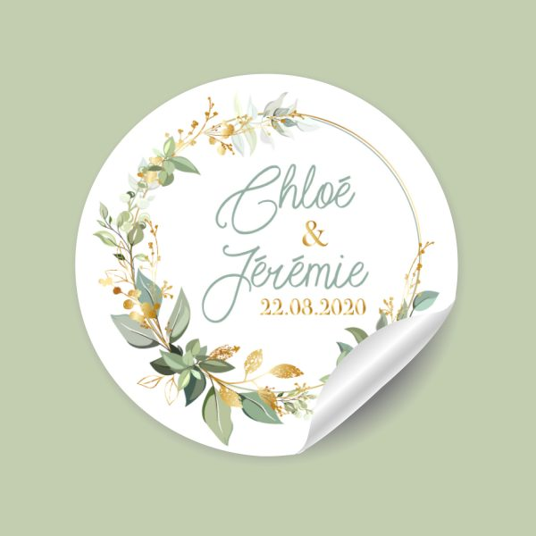 Stickers mariage collection Bouton d'Or