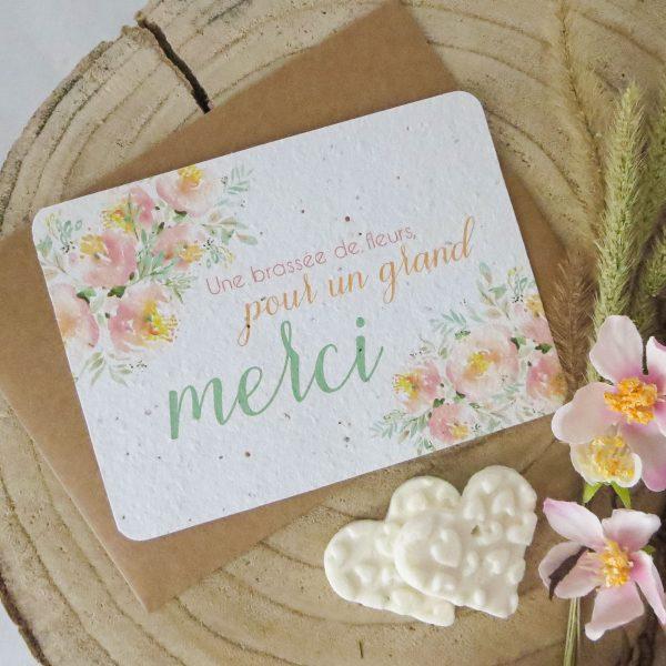 """Grande carte à planter """"merci"""""""