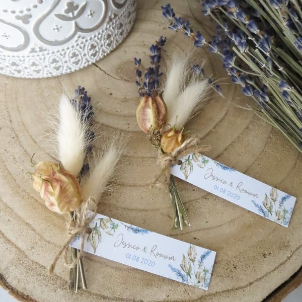 Mini-bouquet de fleurs séchées lavande