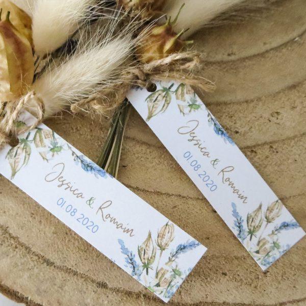 Mini-bouquet marque-place mariage Lavande