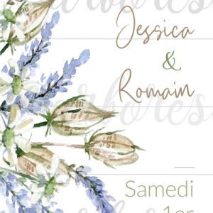 Save the Date mariage Lavande