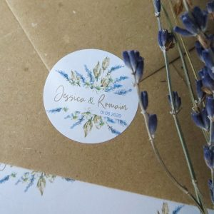 stickers mariage Lavande
