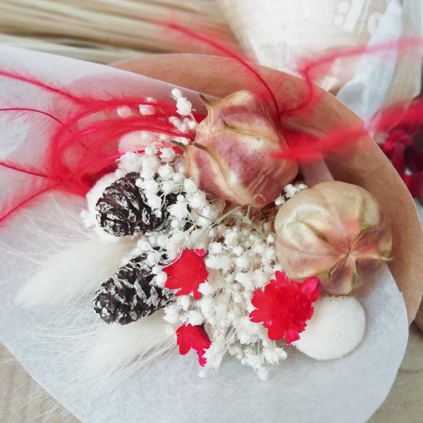 Mini-bouquet de fleurs séchées Noël
