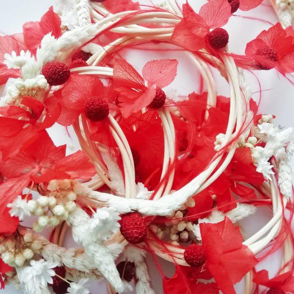 Mini-couronne de fleurs séchées Noël