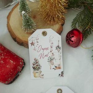 étiquettes cadeau Noël magique