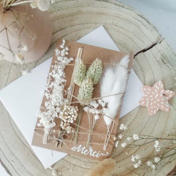 Carte fleurie merci