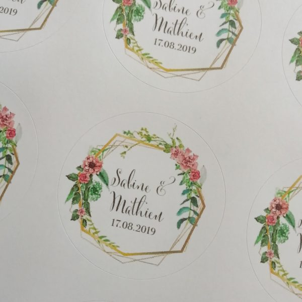 Stickers mariage bohême