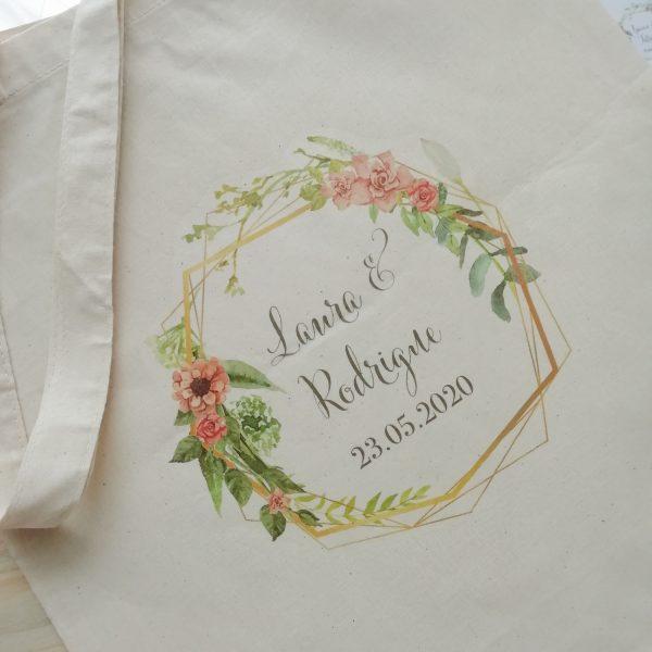 Tote bag mariage Bohème