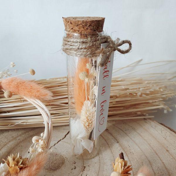 Mini collection d'automne - petite éprouvette de fleurs séchées
