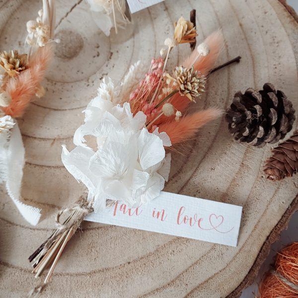 Mini collection d'automne - petit bouquet de fleurs séchées