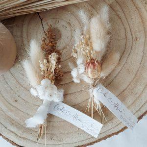 mini bouquets de fleurs séchées immortelles
