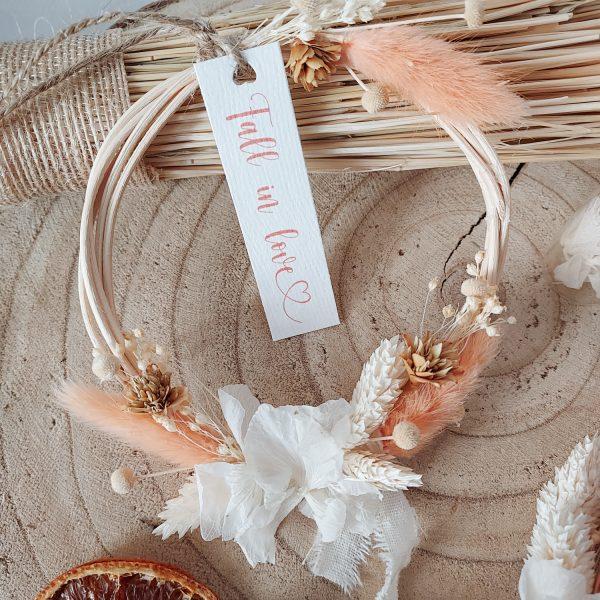 Mini collection d'automne - couronne de fleurs séchées